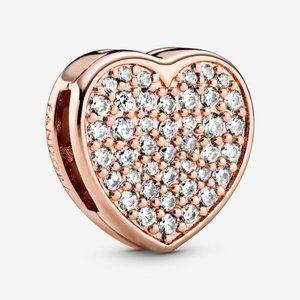 📿Pandora  Pavé Heart Clip Charm